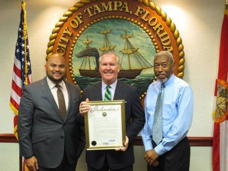Tampa Mayor Bob Buckhorn issued a proclamation from the City of Tampa for National Service Day